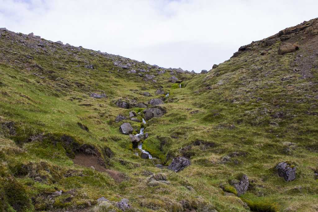 Mountain stream outlet