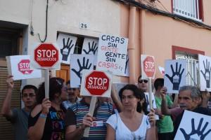 Una protesta contra los desahucios