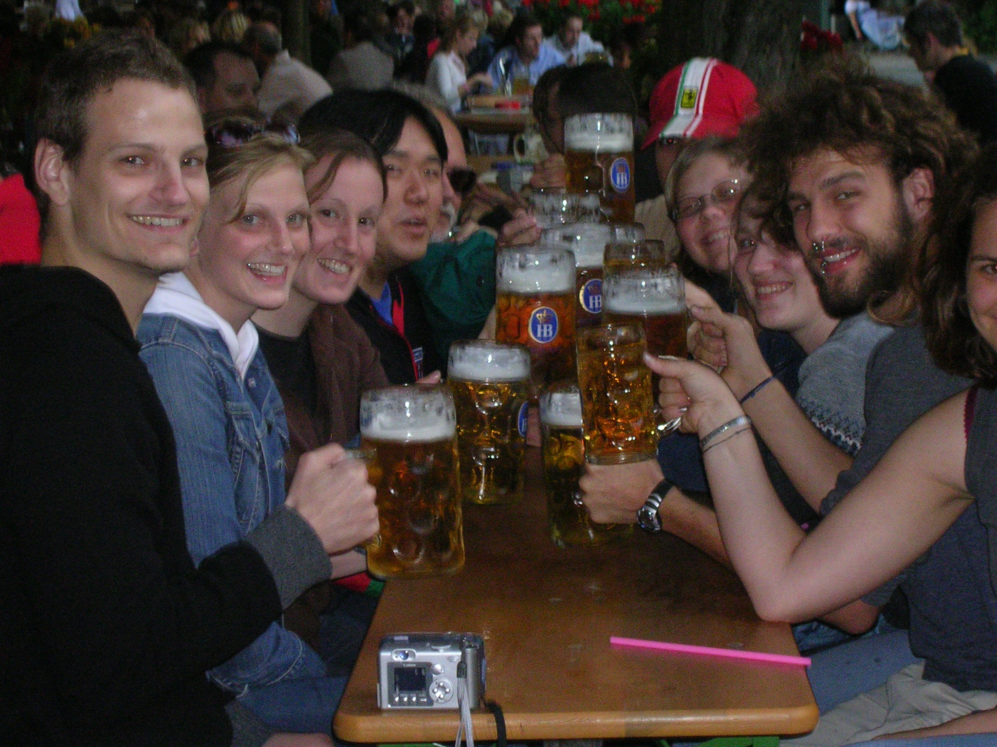 Dickinson Group in a Munich Beer Garden