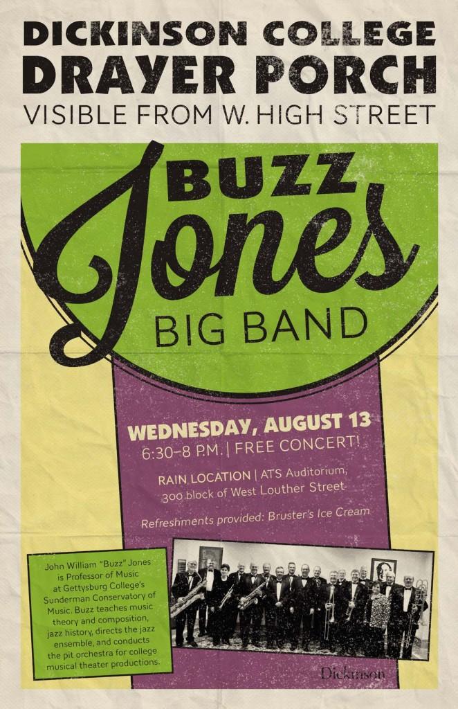 Buzz Jones Band Poster August 13 2014
