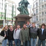 In front of the Lessing statue in Hamburg