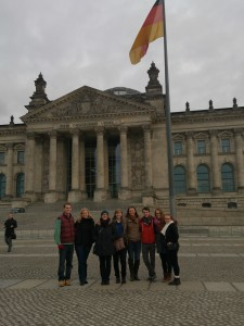 The group in front of the Reichstag