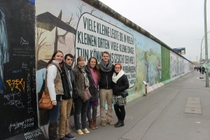 In front of the Berlin Wall