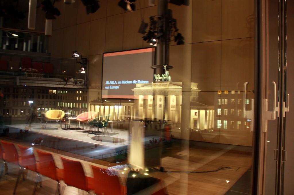 Academy of the Arts East Pariser Platz before the last panel on Sunday
