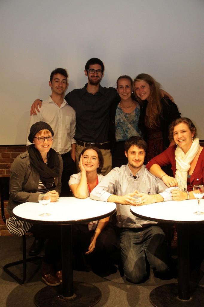 Adrienne, Prof. Ludwig, Ezra, Rachel (front f. l. t. r.), Santiago, George, Cassie, Katie (back row)
