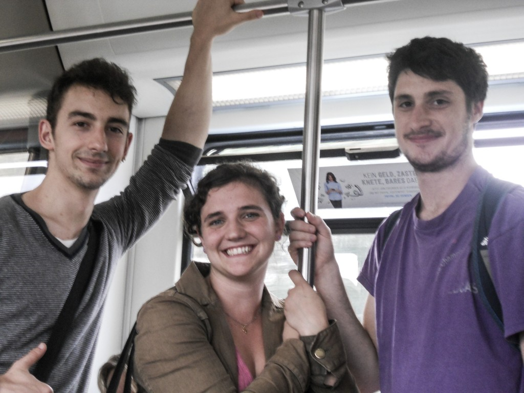 Santiago, Rachel, Ezra in the subway