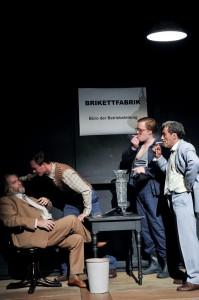 Foto ©: Arno Declair. Michael Schweighöfer, Elias Arens, Christoph Franken, Jürgen Kuttner (from left to right)