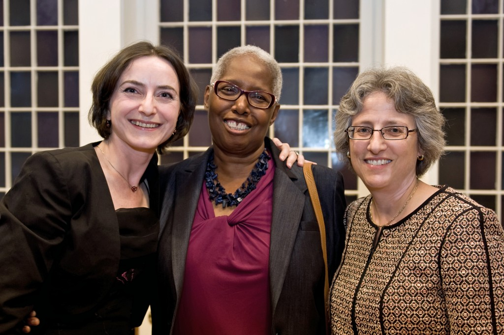 Fr. left to right: Dr. Janine Ludwig, VP Joyce Bylander, President Nancy Roseman