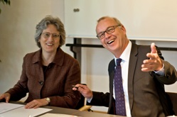 President Roseman and Rector Scholz-Reiter (right) © Harald Rehling, Uni Bremen