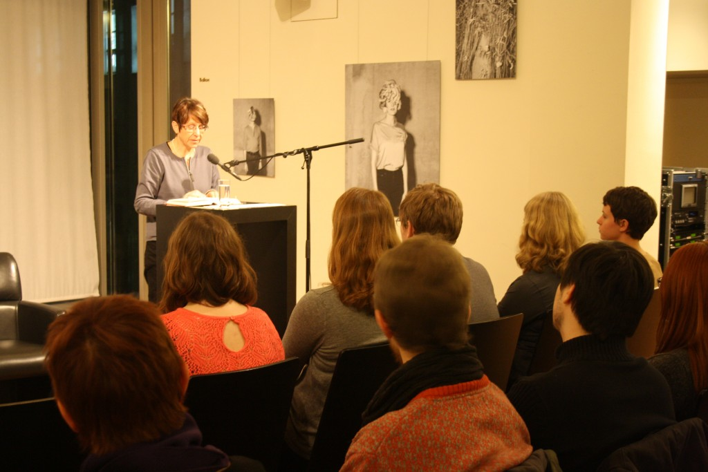 "Kerstin Hensel reading from her novel ""Lärchenau""."