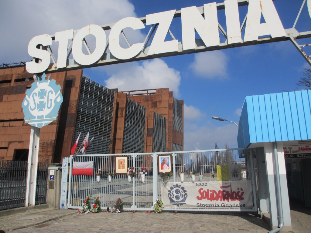 The famous Gate No. 2 at the Gdansk Shipyard.