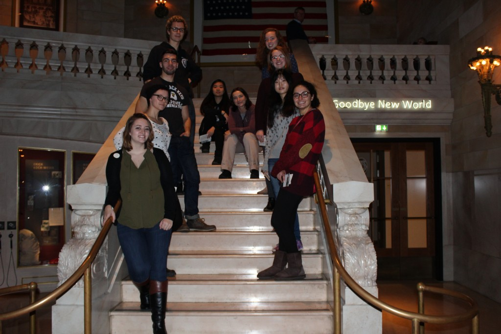 The seminar group at Grand Central Station