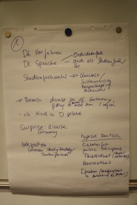 Student panel - summary of the talks with the students