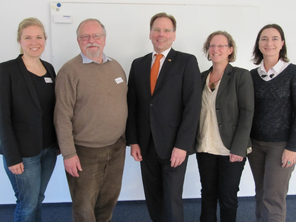 Verena Mertz, Kurt Gamerschlag (AASAP), Neil van Siclen (CSDAC), Anette Lang (Uni Bremen), Janine Ludwig (from left to right)