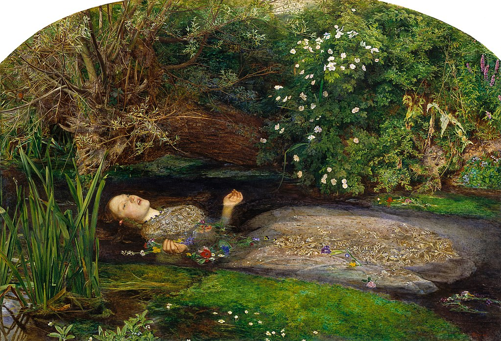 """Ophelia""by Sir John Everett Millais, 1851-1852"
