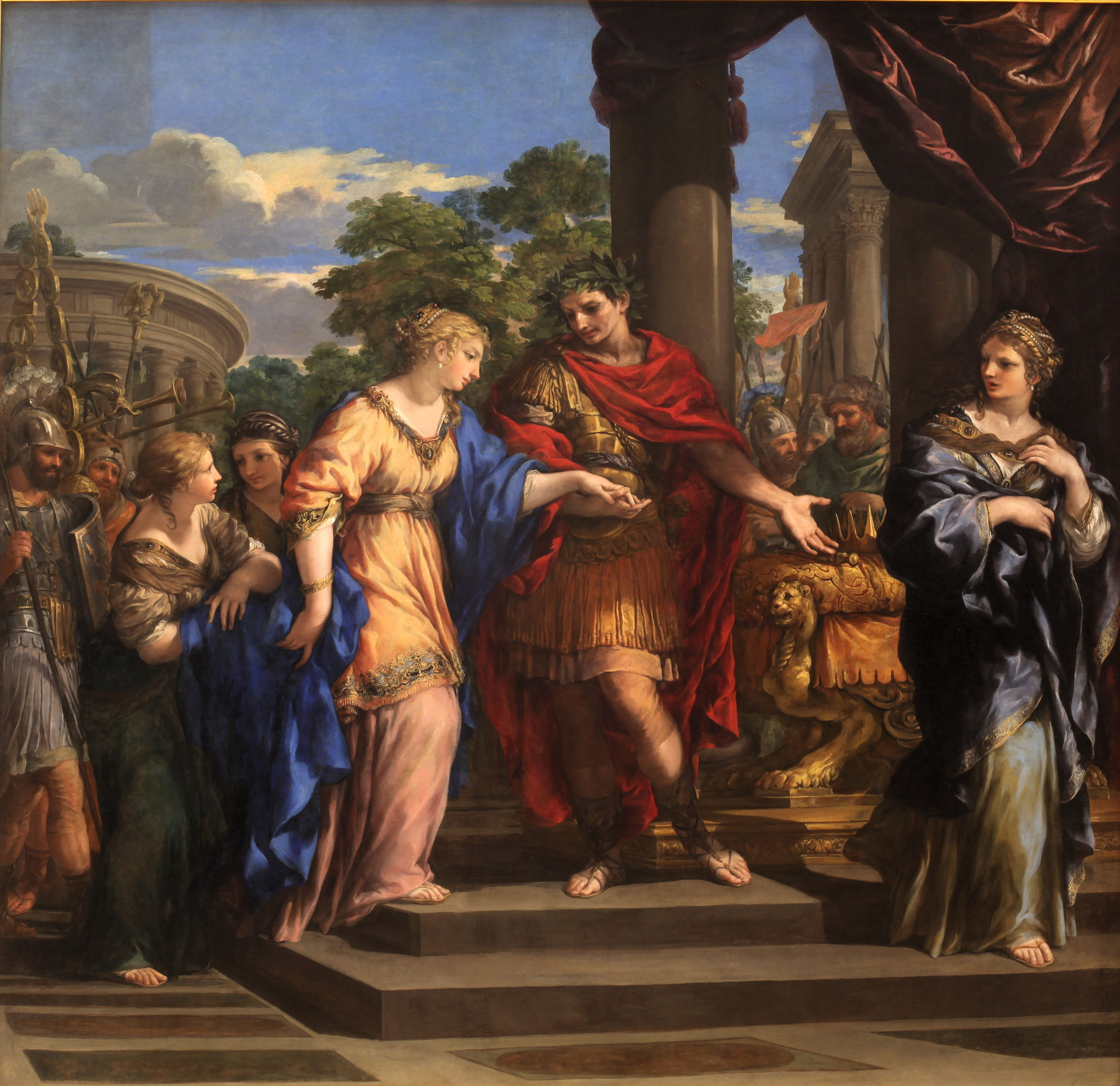 Caesar Giving Cleopatra the Throne of Egypt. By Pietro de Cortone, c. 1637. Musée des beaux-arts de Lyon