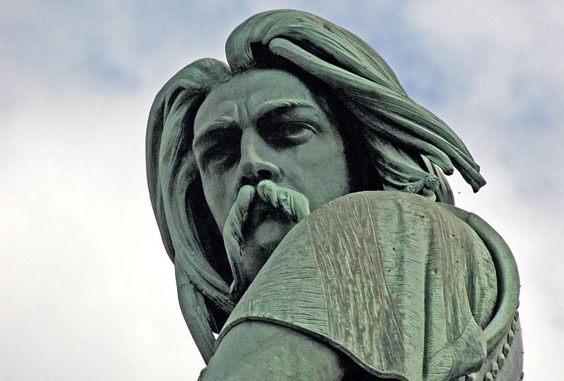 Detail of Statue of Vercingetorix. Aimé Millet (1865). Mt. Auxois, near Alise-Sainte-Reine
