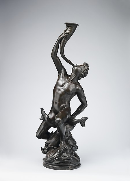 Triton. Bronze sculpture by Giambologna, 1560-70. Metropolitan Museum, New York