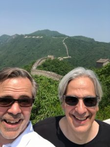 Chris Francese and Marc Mastrangelo at the Great Wall, May 26, 2019.