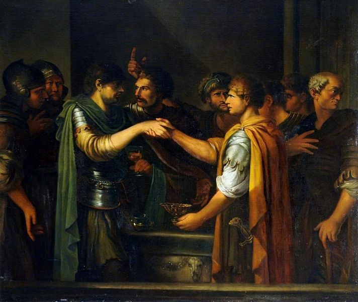 "Joseph-Marie Vien (1716–1809), ""The oath of Catiline"" Oil on canvas (Wikimedia Commons)"