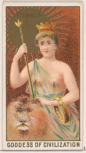 Cybele, Goddess of Civilization, from the Goddesses of the Greeks and Romans series (N188) issued by Wm. S. Kimball & Co. 1889