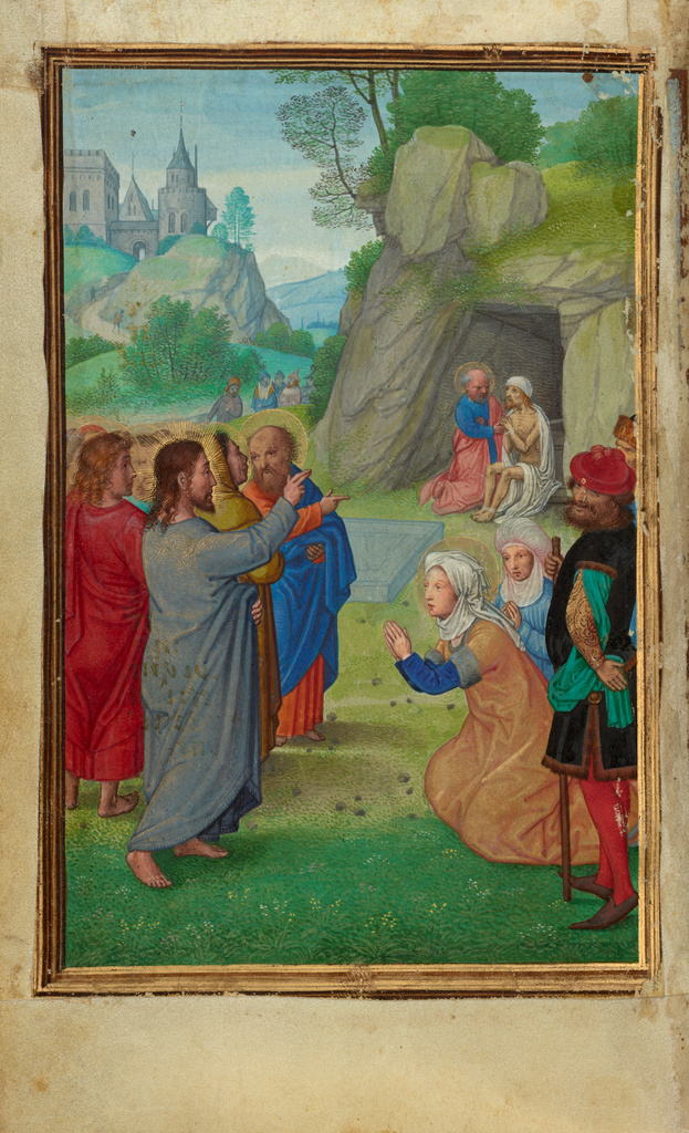 The Raising of Lazarus by Simon Bening (Flemish, about 1483 - 1561)