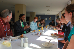 Dr. Pachauri with Dickinson COP17 delegation in Durban, South Africa, 2011