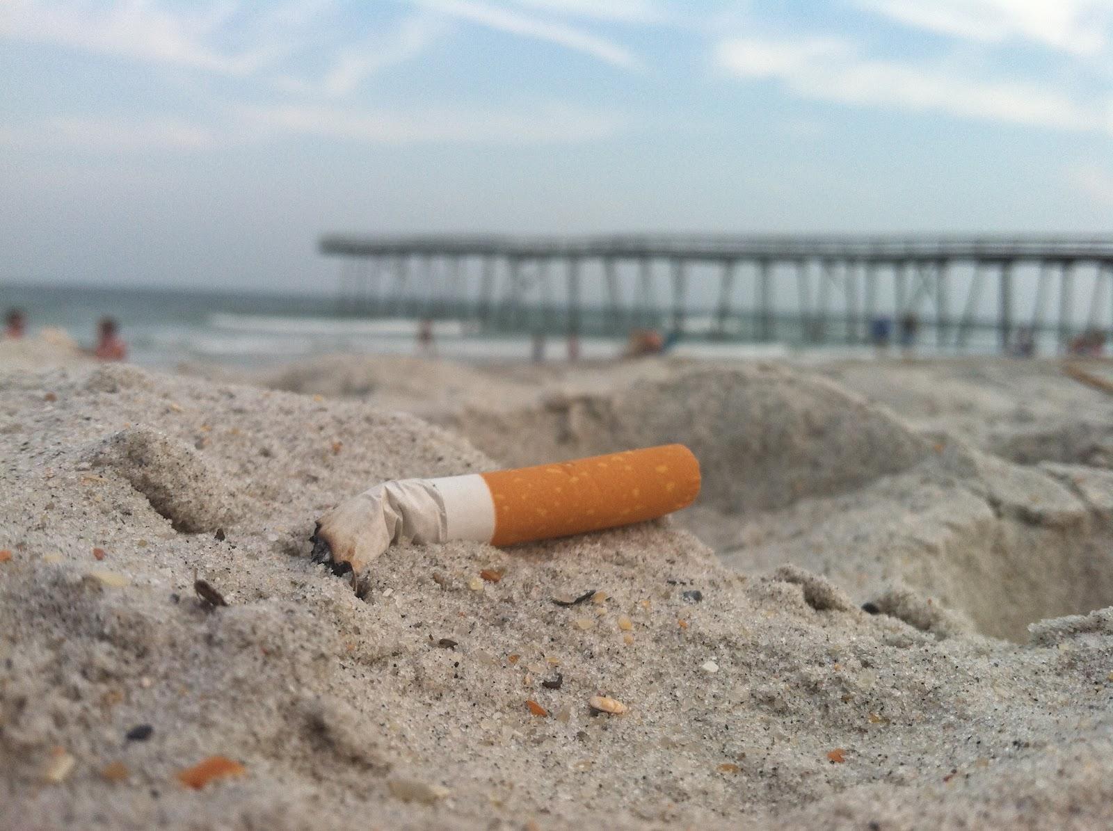 Cigarette on the beach