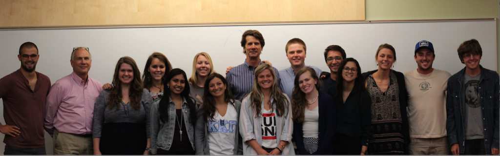 James Balog with the 2014 Global Climate Change Mosaic cohort at Dickinson College