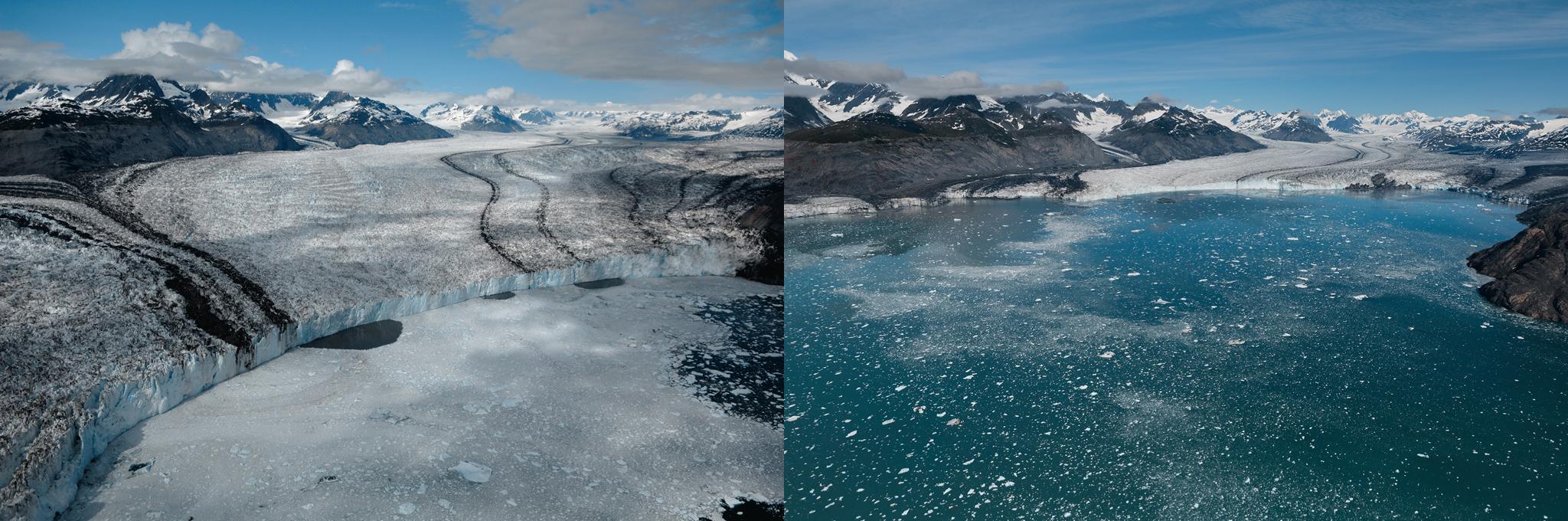 Courtesy of Balog: Columbia Glacier, Alaska from 2006 to 2012