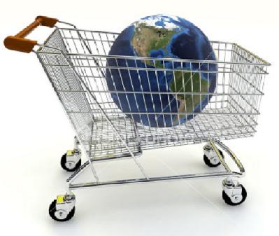 shopping cart earth