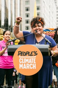 UPROSE'S Executive Director, Elizabeth Yeampierre at The People's Climate March Global Press Conference