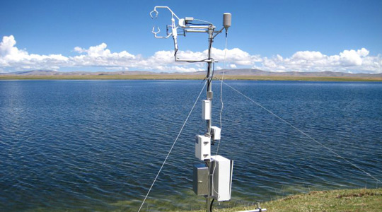Example of tower-based turbulent flux measurements for eddy covariance