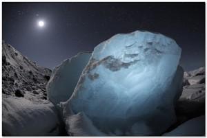 Star gazing glacier