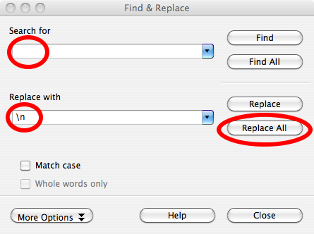 10. find and replace dialog box