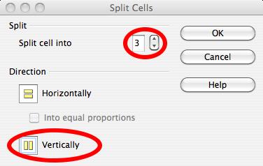 6. split cells