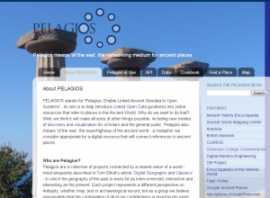 Pelagios screenshot