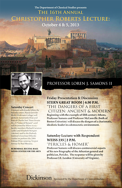 Roberts Lecture 16th Annual Poster P1