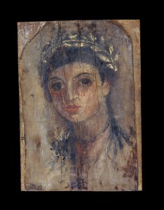 Mummy Portrait of a girl, AD 50-70, Roman Egypt. Image © The Trustees of the British Museum