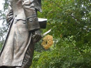 Rush statue Mary Lou Burke