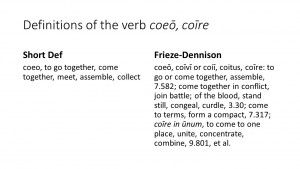 Shortdef vs. Frieze-Dennison on Coeo