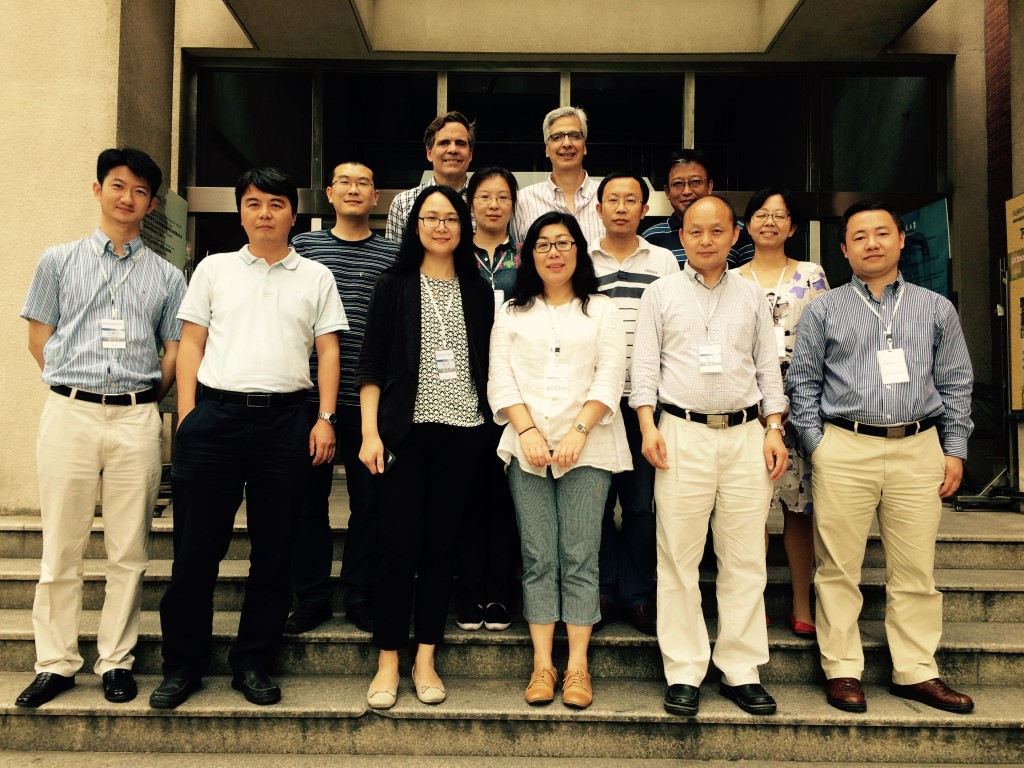 Left to right: Bai Chunxiao (Zhejiang University), Zhang Wei (Fudan University), Li Shangjun (Shanghai Normal University), Chen Wei (Zhejiang University), Chris Francese, Xiong Ying (Nanjing University), Jinyu Liu (DePauw University), Marc Mastrangelo, Xu Xiaoxu (Renmin University of China), Zhang Qiang (Northeast Normal University), Huang Yang (Fudan University), Liu Chun (Peking University), Wang Shaohui (Northeast Normal University)