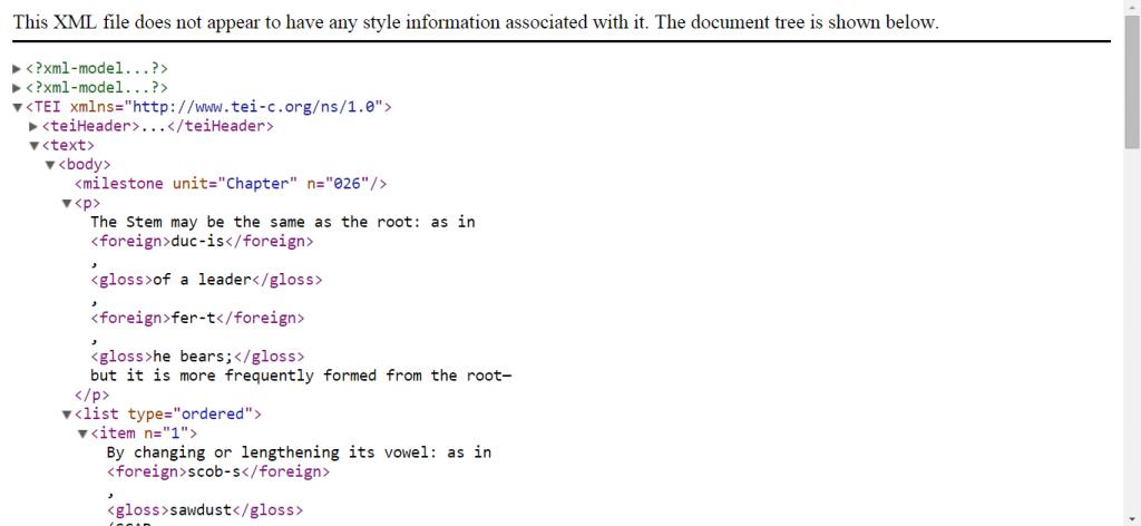 DCC Allen & Greenough ch. 26 XML