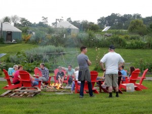 camp fire at the farm, Conventiculum farm dinner