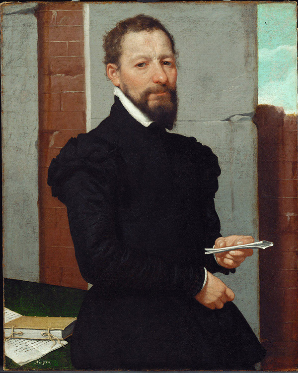Portrait of Maffei by Giovanni Battista Moroni , ca. 1560-65.