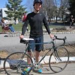 Afsahi Drew  with bike