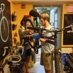 avery and sam at the handlebar
