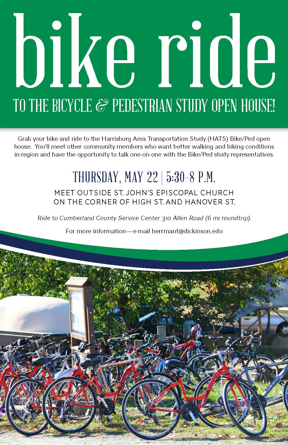 Bike ride for Tri-County Bike/Ped Plan open house