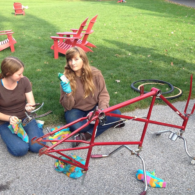 Working on the #schwinn #tandem