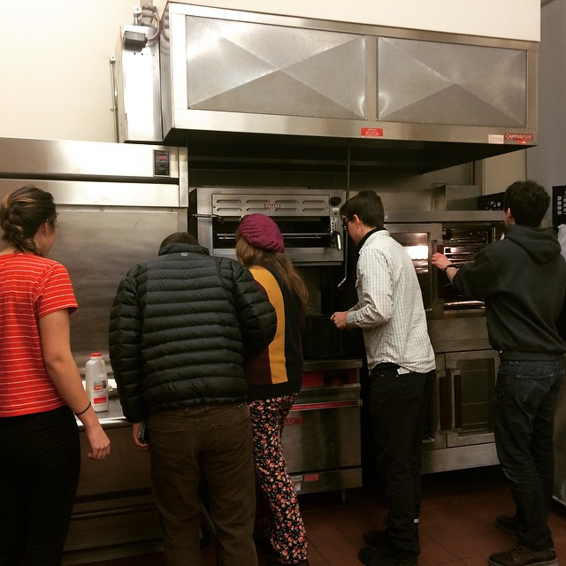 Handlebar crew making brinner on Sunday night! #dsonbikes #dsonsustainability